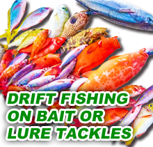 DRIFT FISHING ON BAIT OR LURE TACKLE